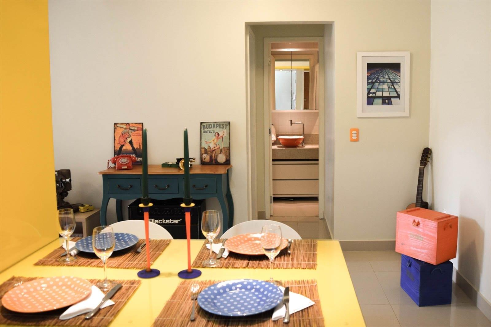 Apartamento do Músico - Integração de Cozinha e Sala