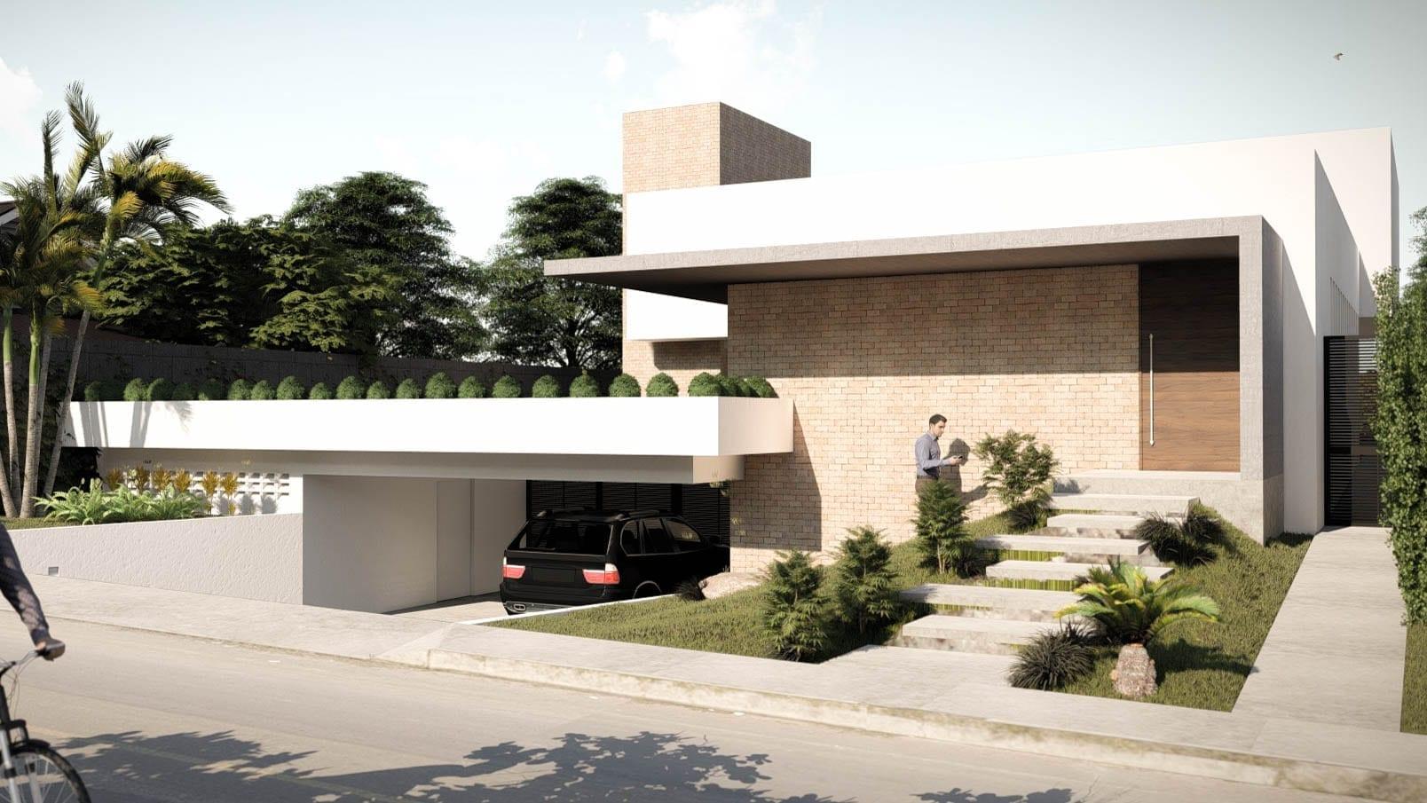 Arquiteta Beatriz Teixeira - Casa Parisi Fachada Frontal